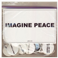 Yoko Ono: Imagine Peace [set of 24 buttons]