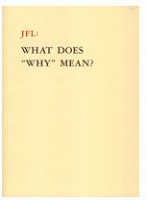 "Octavian Esanu: JFL: What Does ""Why"" Mean?"
