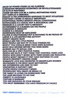 Jenny Holzer: FirstImpressions