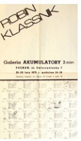 Robin Klassnik: ExhibitionPoster