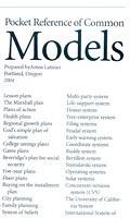Pocket Reference of Common Models