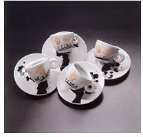 Jannis Kounellis espresso cup collection