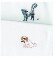 "Trudie Cheng: ""It Could Happen To You Too"" Series Embroidered Dinner Napkins"