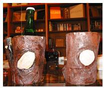 Untitled (rock or tree beer cooler)