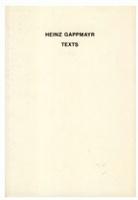 Heinz Gappmayr:Texts