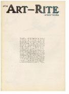 Art-Rite: Artists' Books No. 14