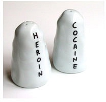David Shrigley: Heroin/Cocaine Salt and Pepper Shakers