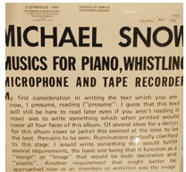 Music For Piano, Whistling, Microphone and Tape Recorder