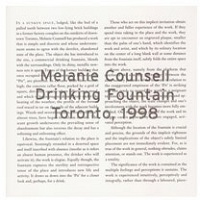 Melanie Counsell: Drinking Fountain:1998