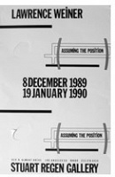Lawrence Weiner: Assuming the Position