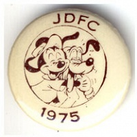John Dowd: JDFC 1975 Mickey and Pluto Button