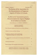 The Review of the Association for the Documentation of Neglected