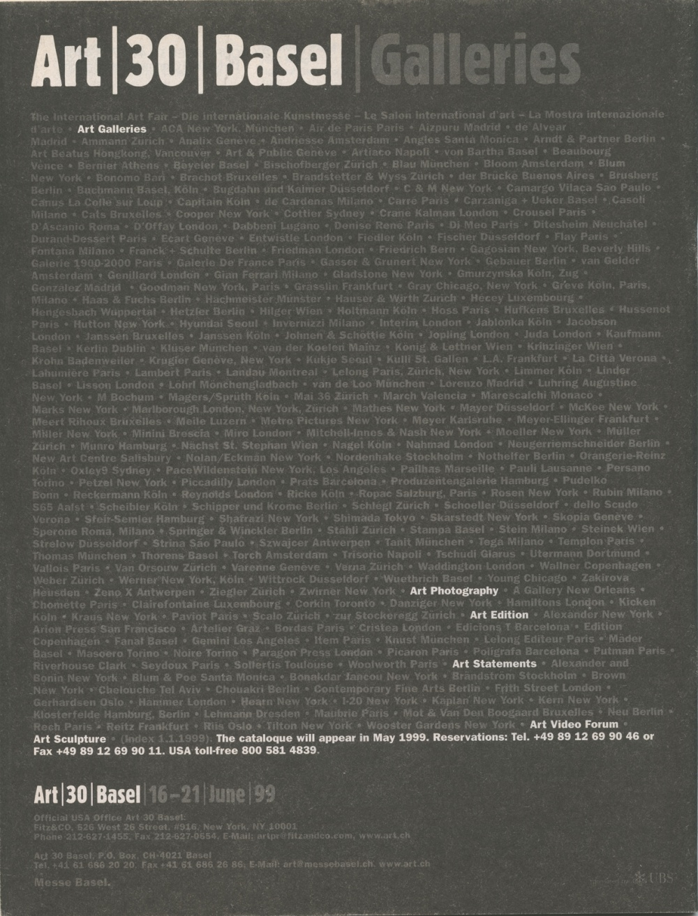 Art Metropole Retail Catalogue #2 (back)