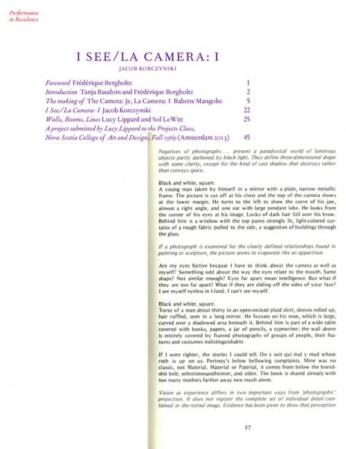 I See/La Camera: I