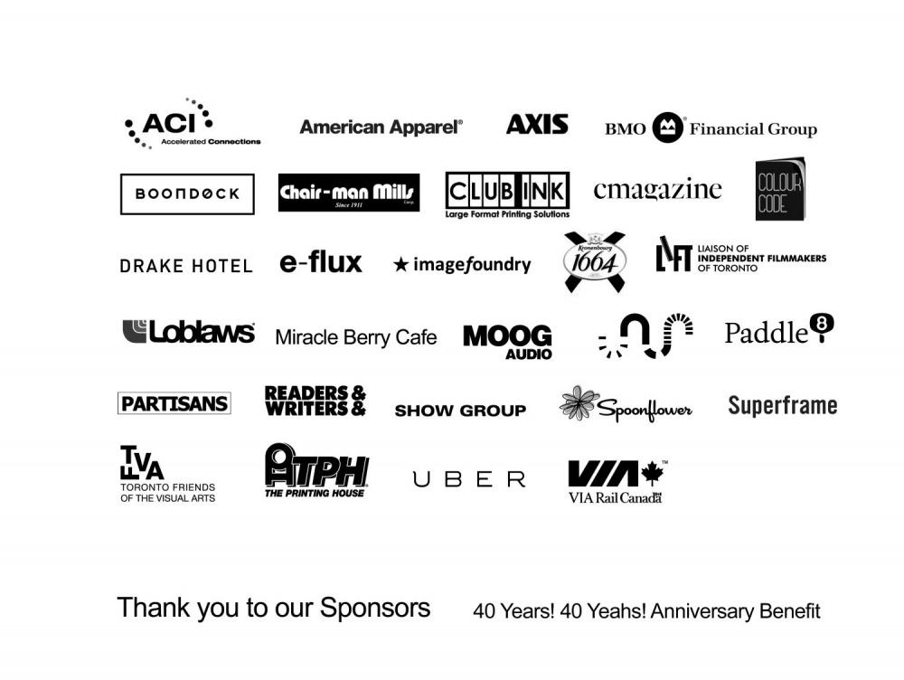 Anniversary Sponsors