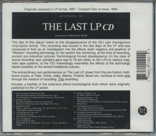 The Last LP CD (back)
