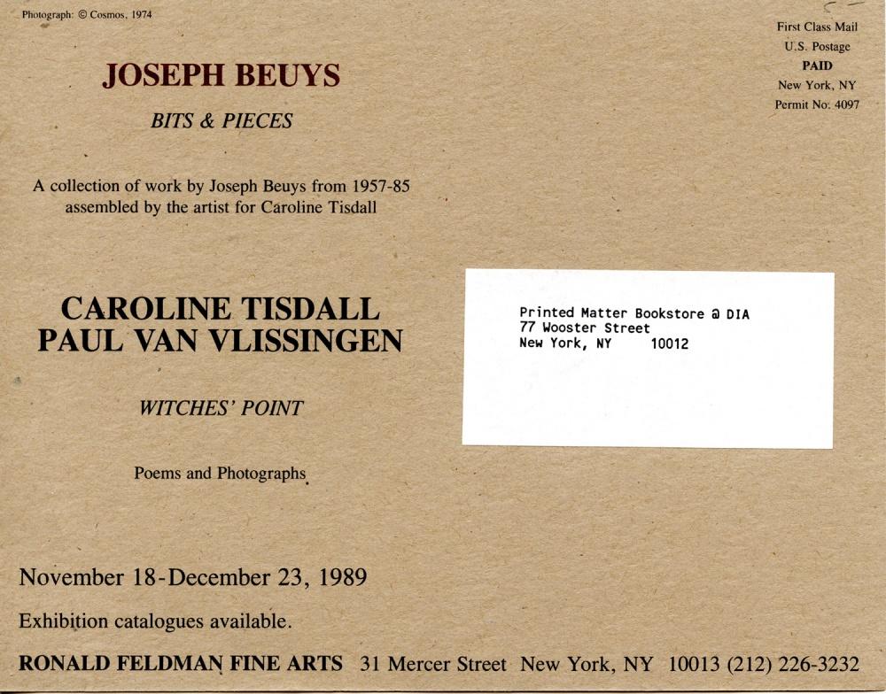 "Joseph Beuys ""Bits & Pieces"" Invitation - reverse"