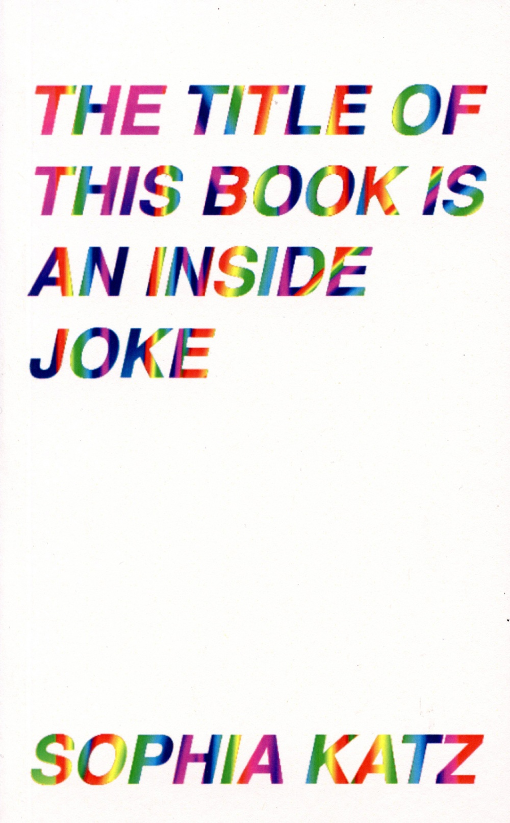 The Title of This Book is an Inside Joke
