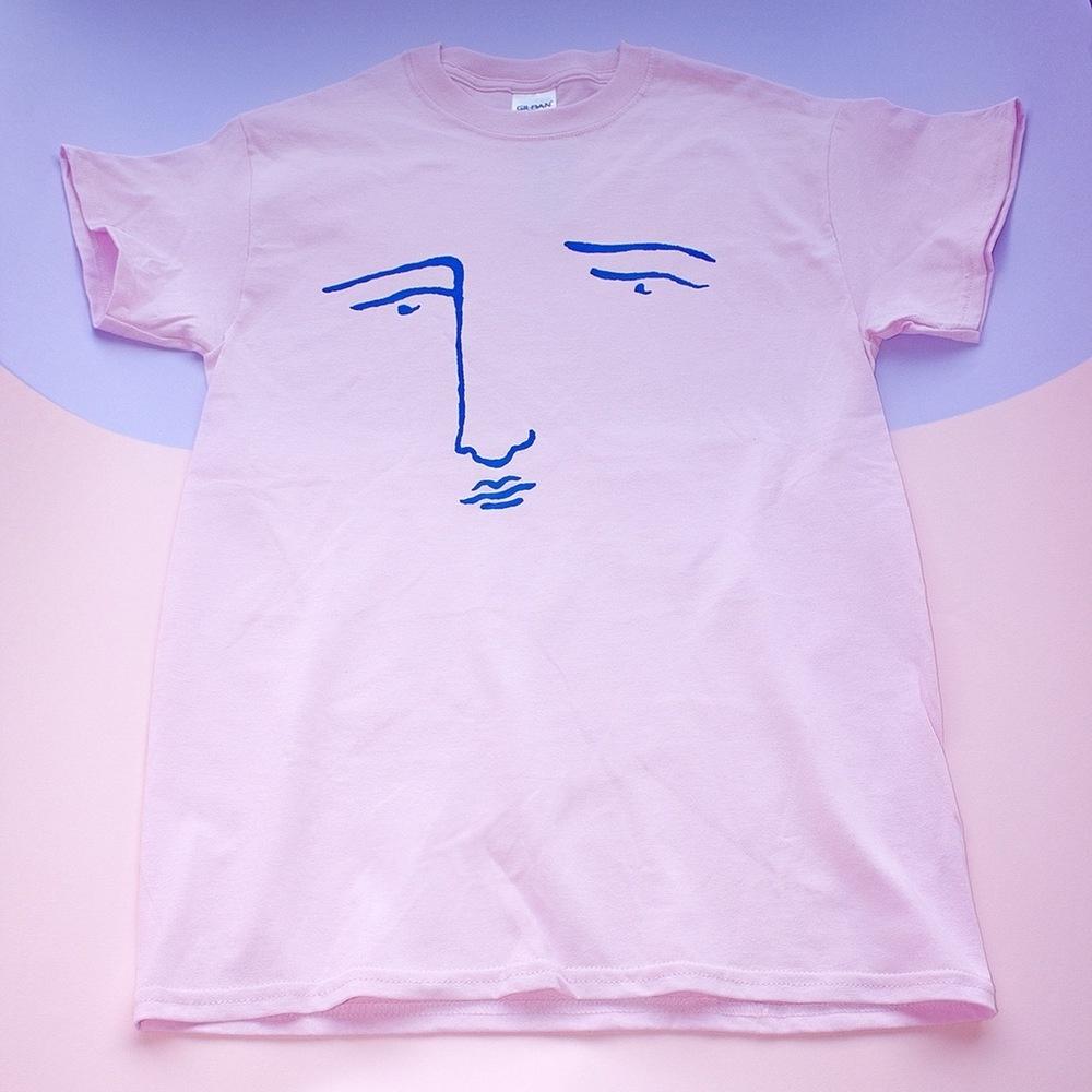 poor grey tee - pink