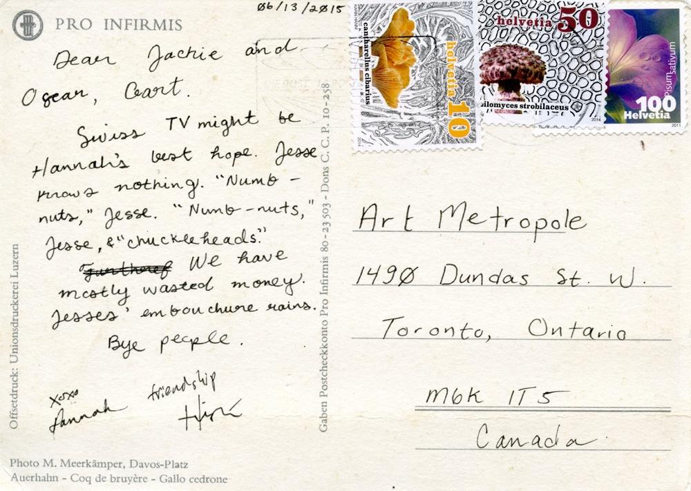 postcard - reverse