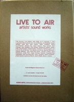 Vito Acconci: Live To Air: Artists' sound works box
