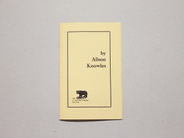 Great Bear Pamphlet - by Alison Knowles