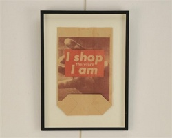 Barbara  Kruger: I Shop Therefore I Am: Framed Bag