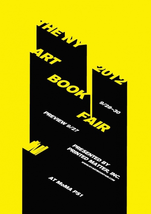 The NY Art Book Fair 2012 Poster