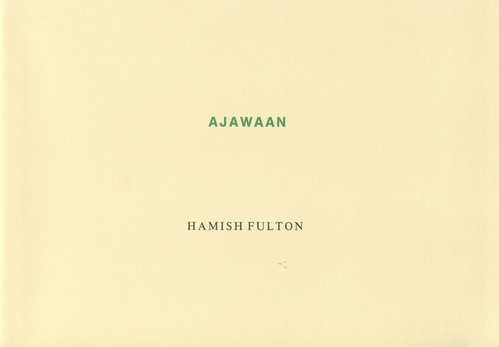 Ajawaan, Harnish Fulton