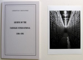 Christian Boltanski: Archive of the Carnegie International 1896-1991