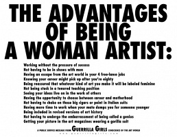 Guerrilla Girls: The Advantages of Being a Woman Artist