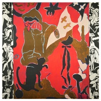 Chris Lux: The Witch, The Black Cat, and The Floating Cloth (after Paul-Élie Ranson)(SAF)