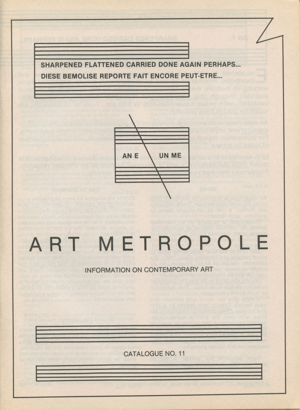 Art Metropole. Information on Contemporary Art. Catalogue No.