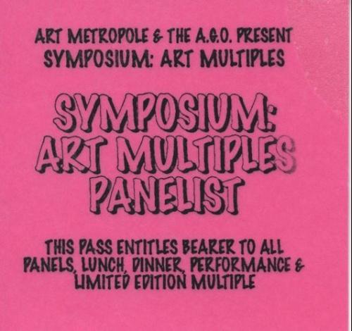 Symposium on Art Multiples