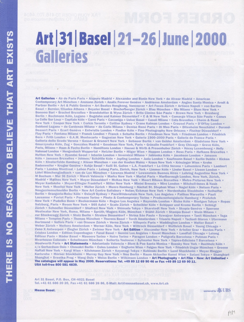 Art Metropole. Retail Catalogue #22. June 2000