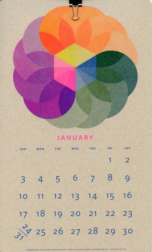 Isometric Risograph Calendar - 2016