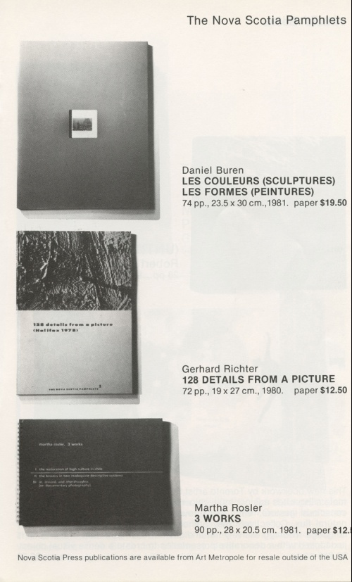 Art Metropole Publications Trade Catalogue 1983-1984