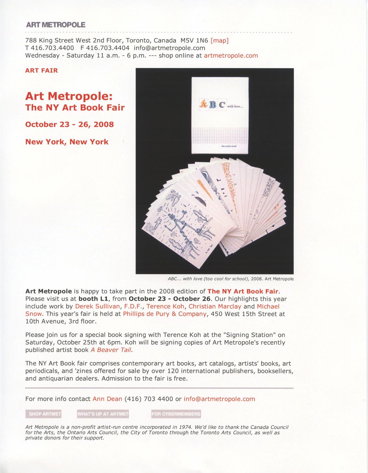 Art Metropole at the NY Art Book Fair.