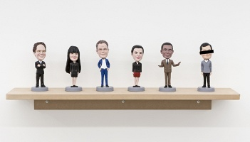 Bill Burns: Art World Bobblehead Doll Set