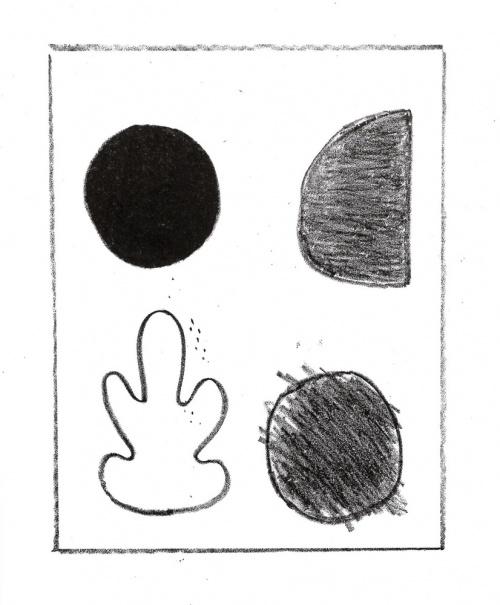 black lithograph print