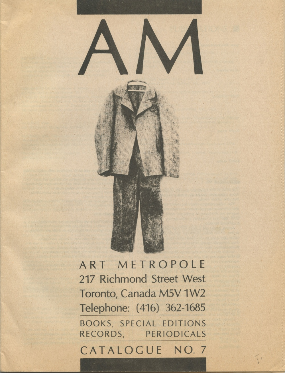 Art Metropole. Books, Special Editions, Records, Periodicals, Ca