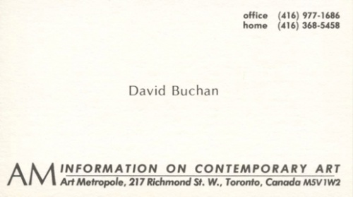 David Buchan - Archive Privileges. AM Information on Contemporar