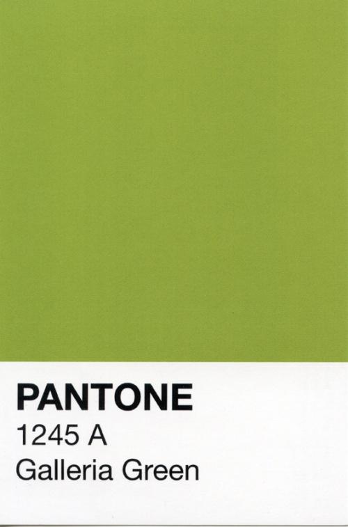 Galleria Green Pantone Postcard