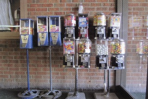 Galleria Gumball Machines Postcard
