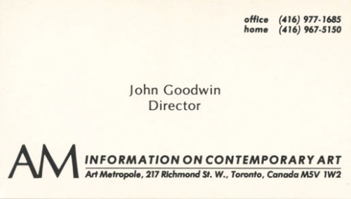 John Goodwin - Archive Privileges. AM Information on Contemporar