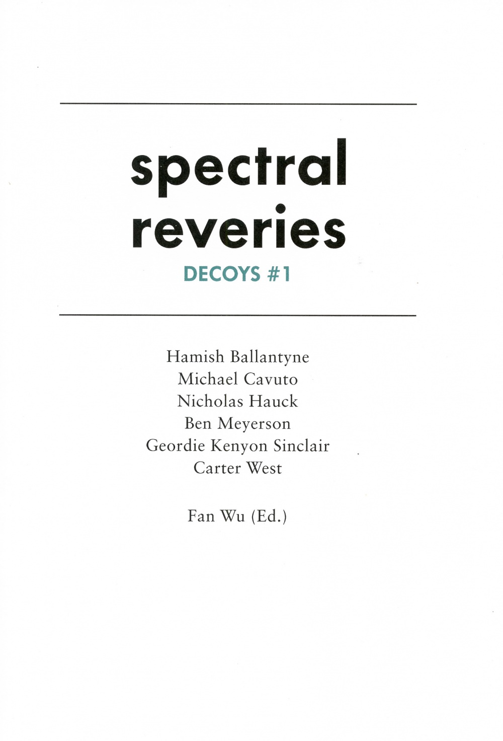 Spectral Reveries