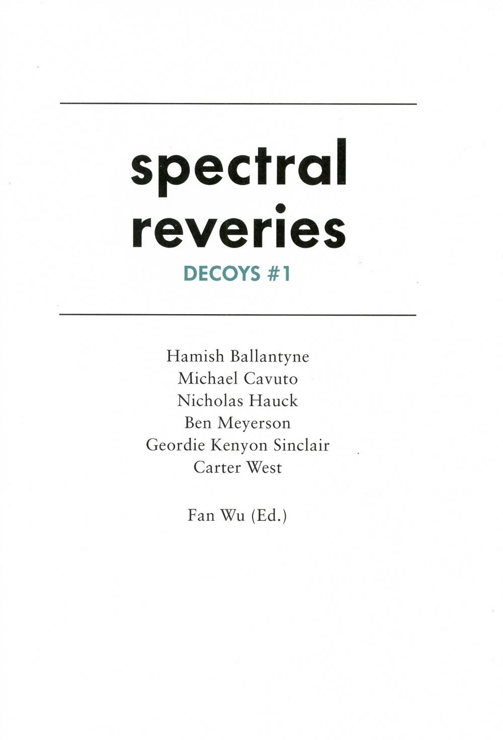 Spectral Reveries