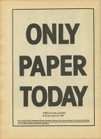 Only Paper Today: Vol. 3 No. 1