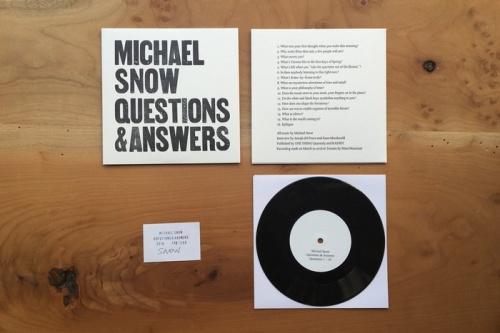 Michael Snow: Q & A