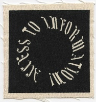 Jacqueline Lachance: Access to Information (circle patch)